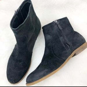 Franco Sarto Black Suede Ankle Boots Booties - 10